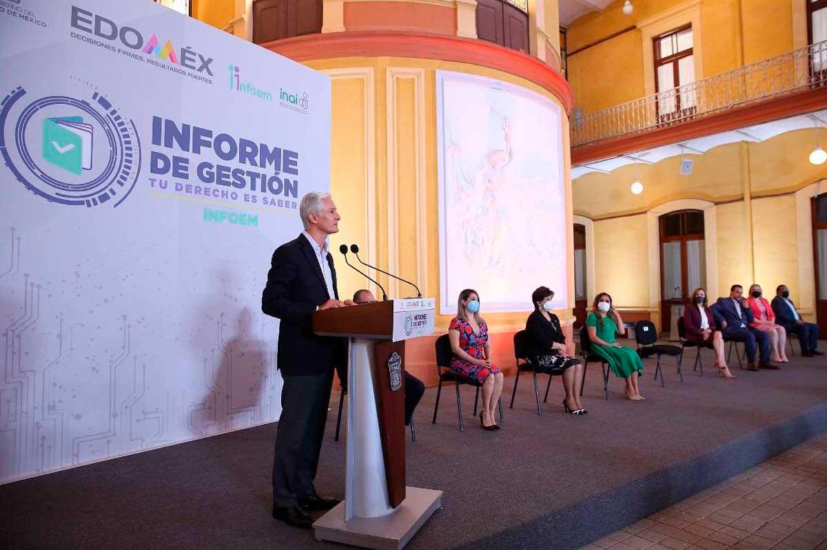 Presenta informe de Gestión titular del INFOEM