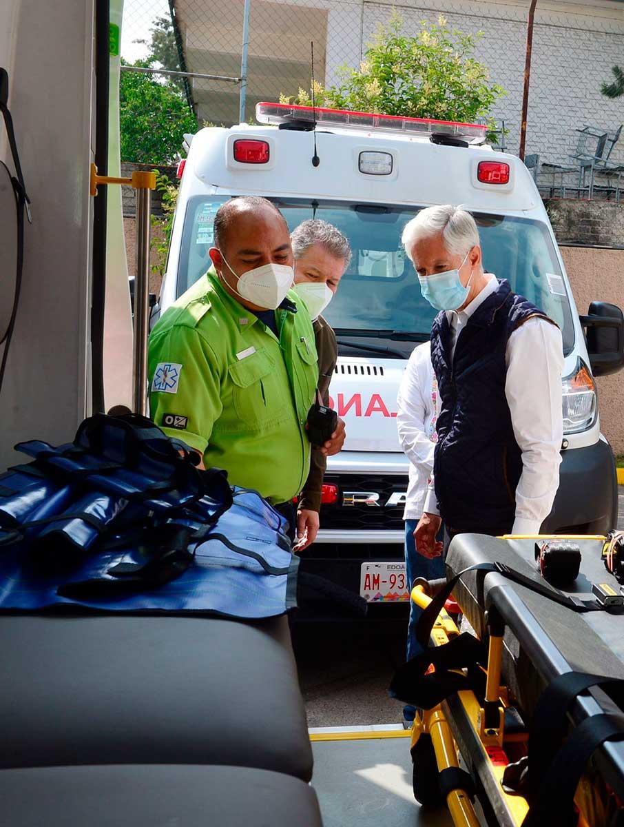 SUEM e Issemym reciben ambulancias nuevas para atención de emergencias