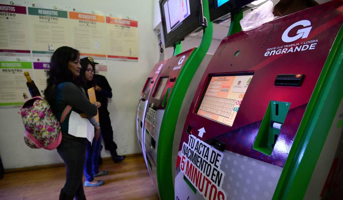 cajeros automáticos registro civil Edomex 2021