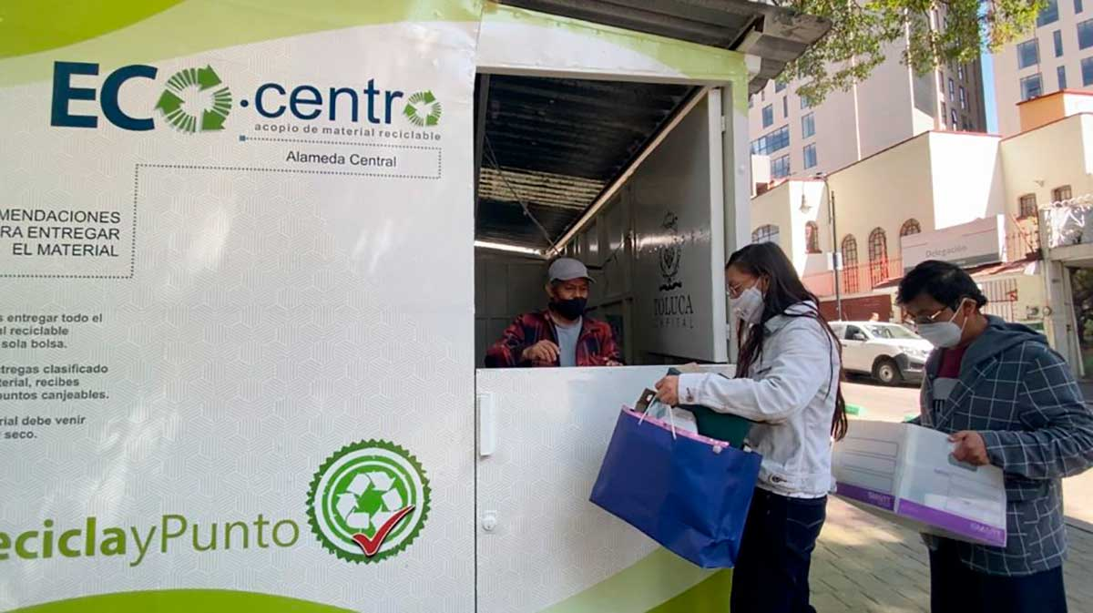 En Toluca operan 14 Ecocentros que reciben residuos reciclables
