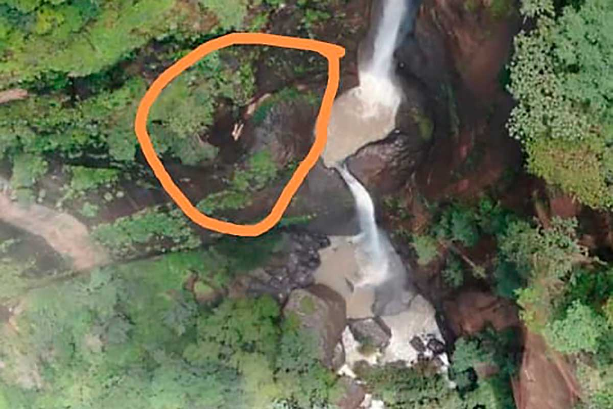 Con un drone localizan a joven que cayó de la cascada de Nanchititla