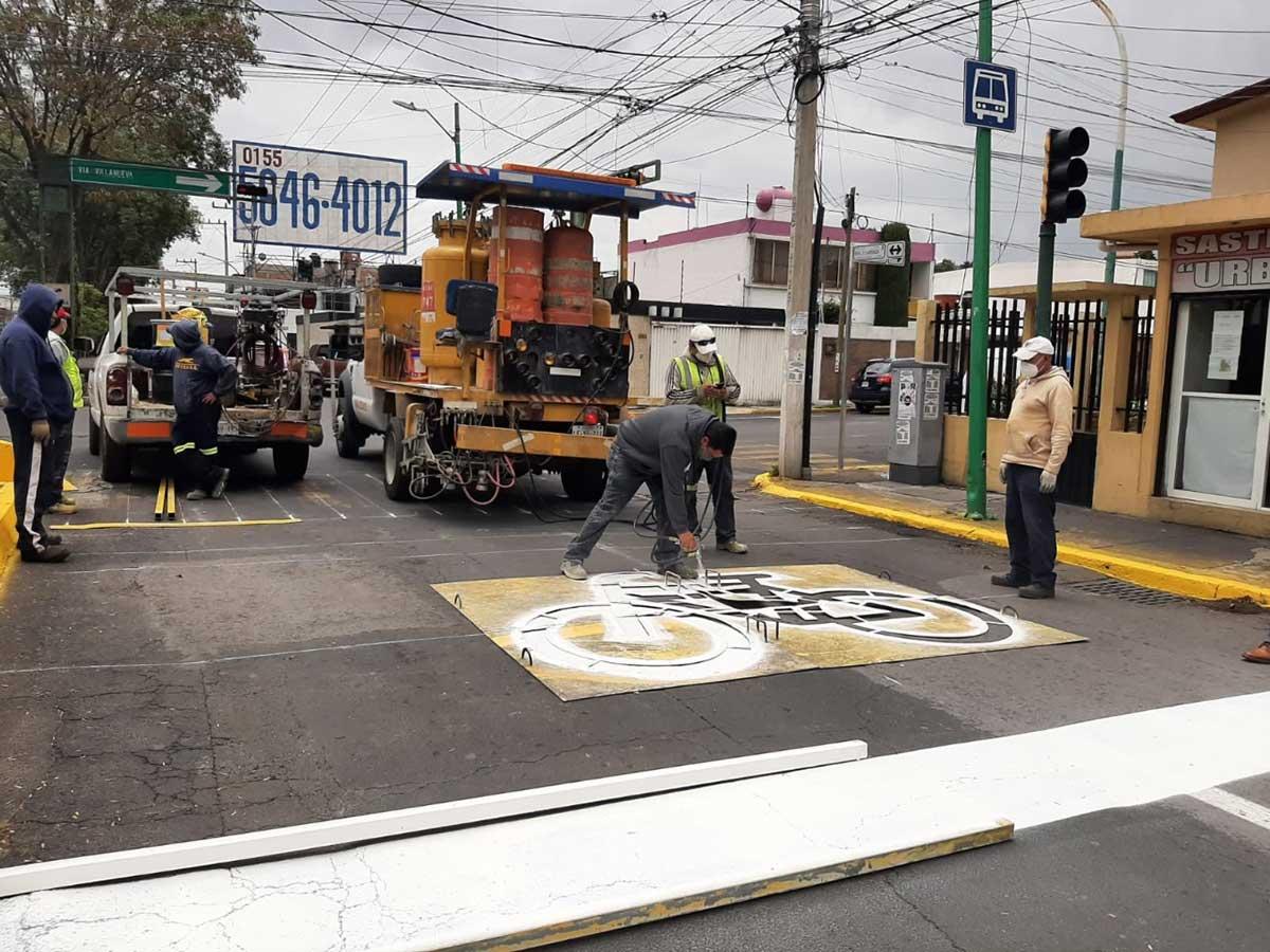 Exhorta Toluca a respetar señalamientos de caja bici en cruces