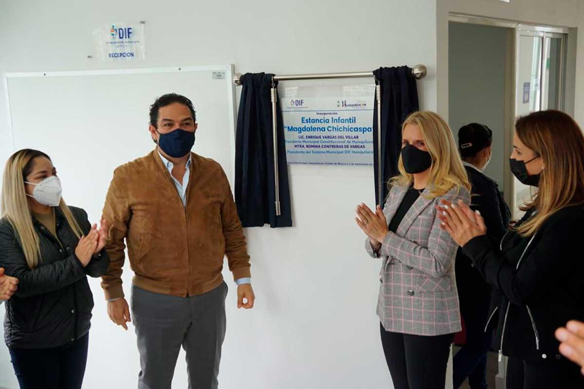 Inauguran la séptima estancia infantil del DIF Huixquilucan
