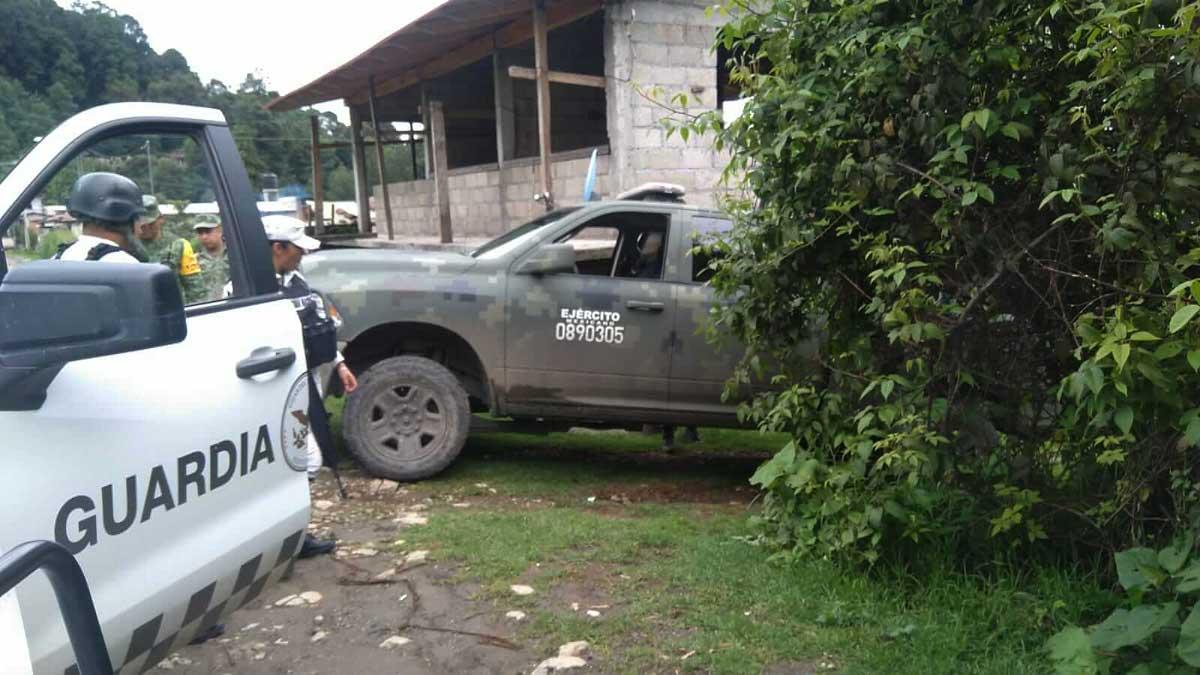 Disparan contra elementos del ejército en Temascaltepec