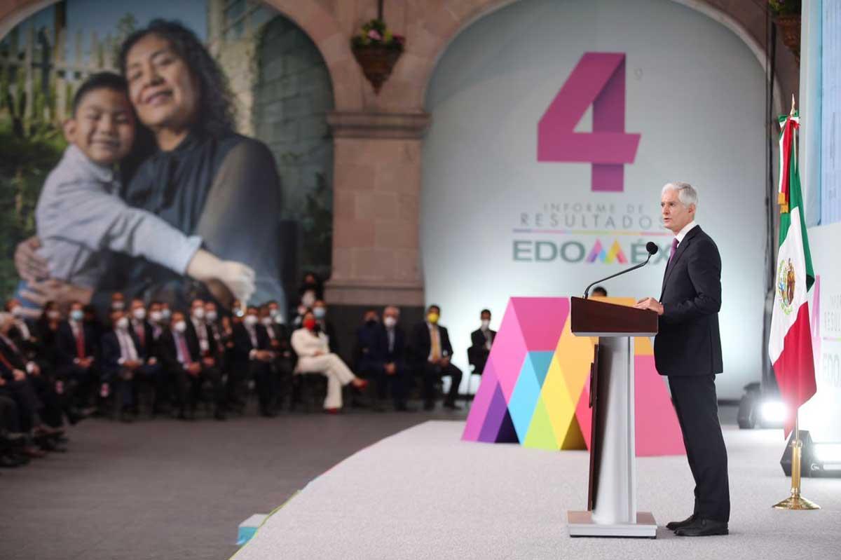 Gobernador Alfredo del Mazo presenta cuatro informe de su administración