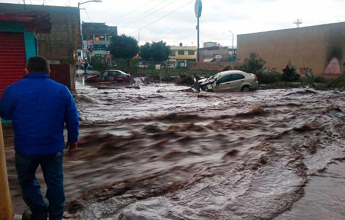 Declaran emergencia por lluvias en Ecatepec