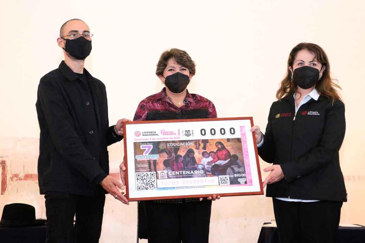 Lotería Nacional presenta billete conmemorativo del centenario de la SEP