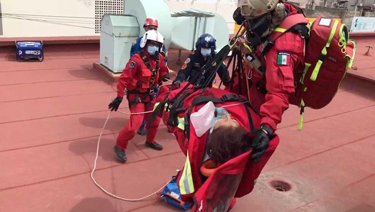 Relámpagos realizan rescates de pacientes en hospital de Tula, Hidalgo