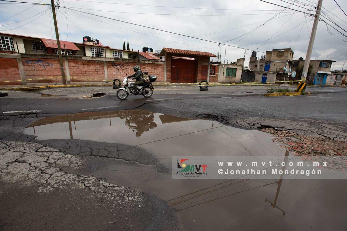 Usan georadar para analizar hundimiento en la zona industrial de Toluca