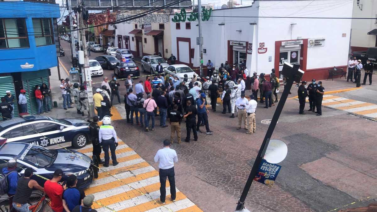 Tiroteo en Metepec deja un presunto delincuente fallecido y dos heridos en el fuego cruzado