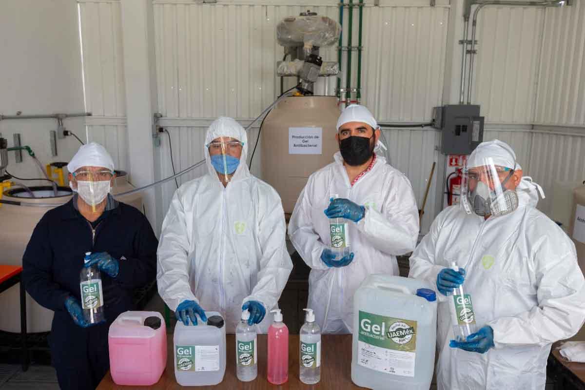 UAEMEX produce gel antibacterial y jabón liquido para combatir Covid-19