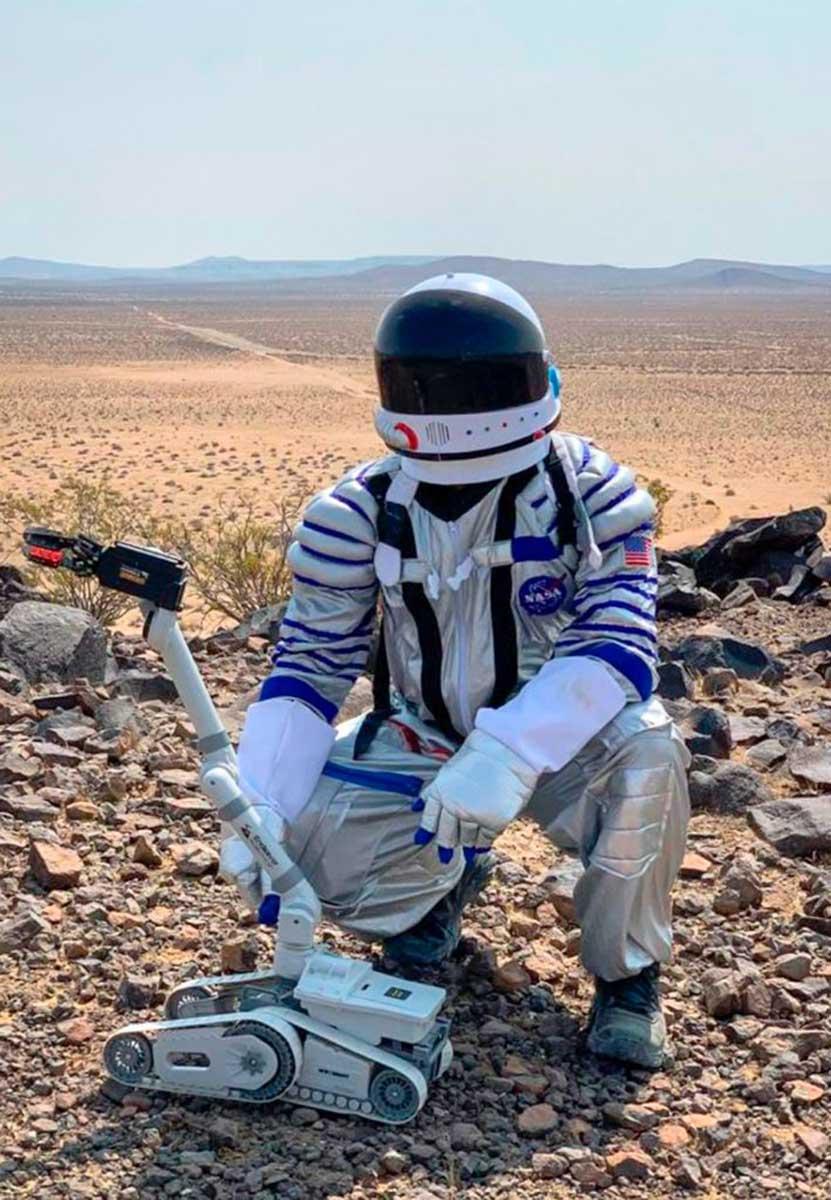 Acatzin Benítez, estudiante UAEM, probó protocolos de adaptación y salud en misión análoga a Marte