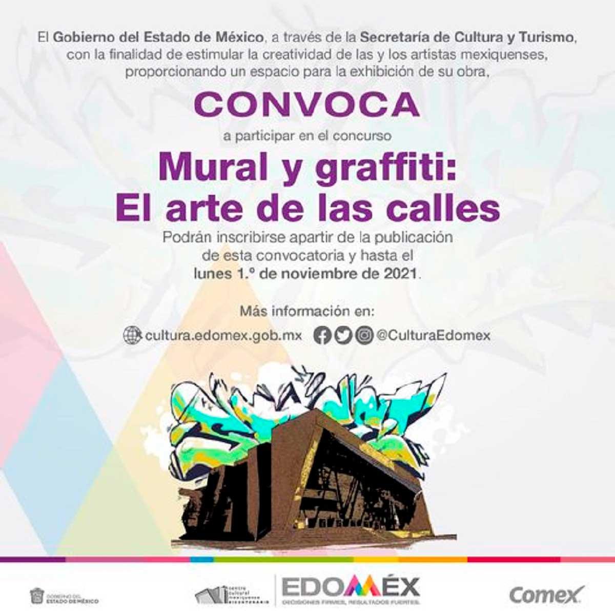 """Convoca Gobierno del Estado de México a concurso """"Mural y Graffiti: El Arte de las Calles"""""""
