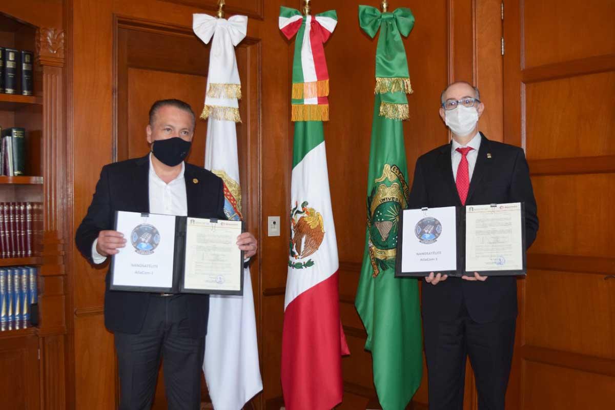 Recibe UAEM donación del Ayuntamiento de Atlacomulco para investigación espacial