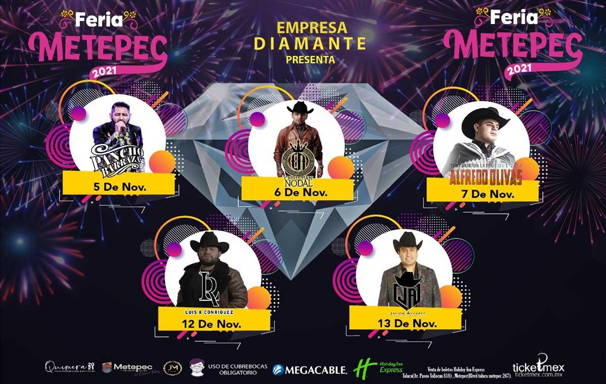¿Qué artistas se presentarán en la feria de San Isidro Metepec 2021?
