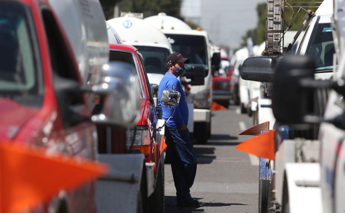 Empresas de gas realizan bloqueos en el Valle de Toluca