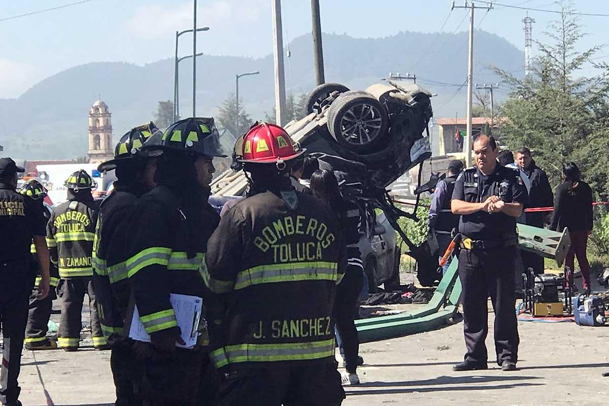 ¿Cuántos accidentes se registraron en Toluca de enero a julio del 2021?