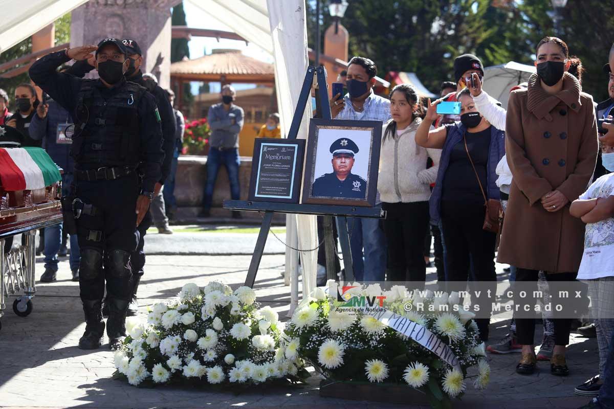 Despiden a policía de San Mateo Atenco que  murió atendiendo llamada de auxilio